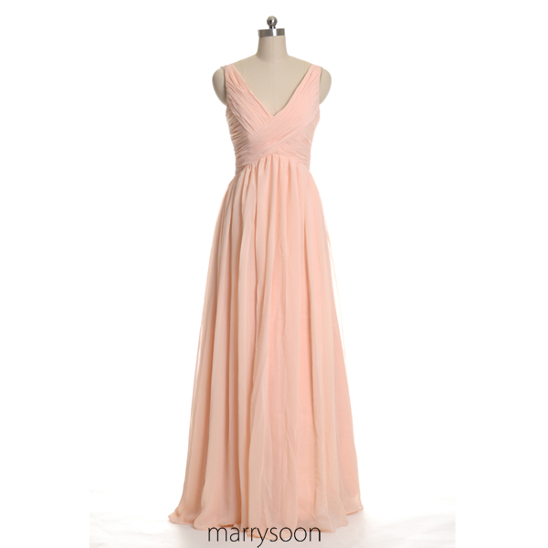 Pastel Peach Dress Weddings Dresses